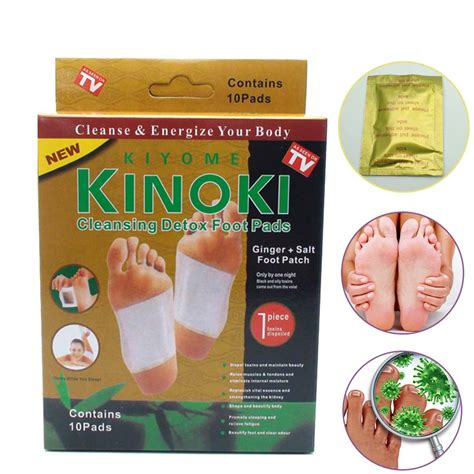 Kinoki Detox Foot Pads Patches by 10pcs Premium Kinoki Detox Foot Pads Organic Herbal
