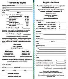 Golf Registration Form Template by 4th Annual Memorial Golf Tournament