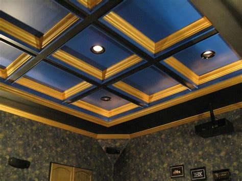 coffered ceiling lighting panasonic pt ae3000u home theater by dan hazelwood