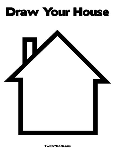 Blank House Coloring Page | free coloring pages of house rooms
