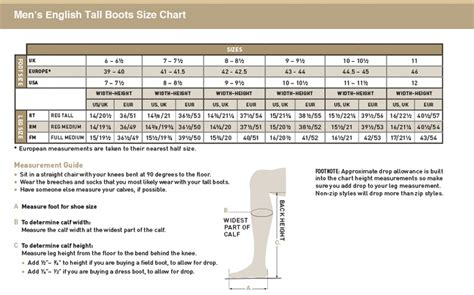 mens boot size chart 28 images shoe tree sizing charts