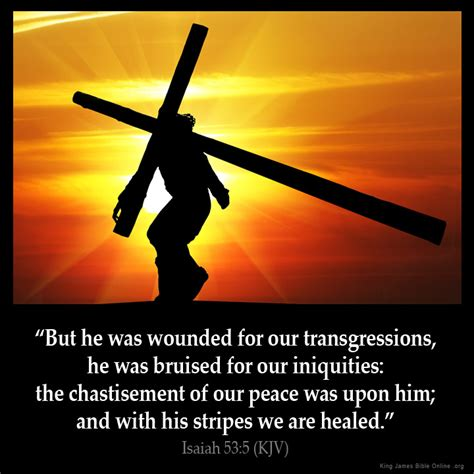 bruised and wounded struggling to understand books isaiah 53 5 inspirational image