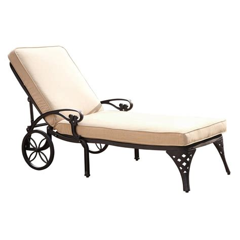 lawn chaise lounge shop home styles cushioned aluminum single patio chaise
