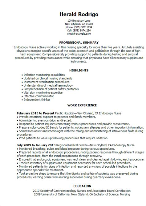 Health Informatics Specialist Cover Letter by Professional Endoscopy Templates To Showcase Your Talent Myperfectresume