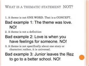 developing a thematic statement lesson