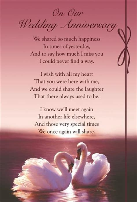 our wedding anniversary quotes for graveside bereavement memorial cards b variety you