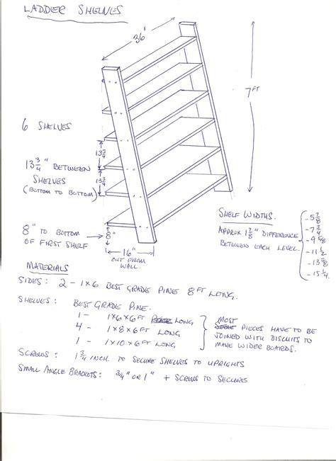 ladder bookcase diy make a leaning ladder