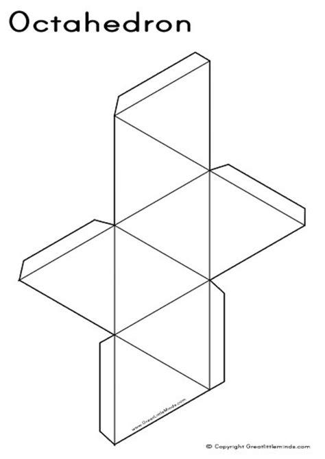 3d paper shape templates 3d nets octahedron