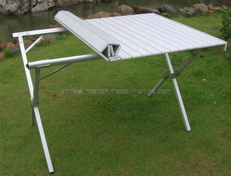 Aluminium Foldable Table Tas4x4 china cing table folding aluminum portable bench roll up picnic table photos pictures
