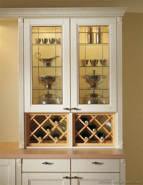 kitchen cabinet wine rack ideas pictures of kitchens traditional off white antique