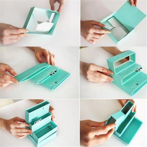 How To Make Paper Organizer - diy cardboard paper jewelry organizer receive storage boxs