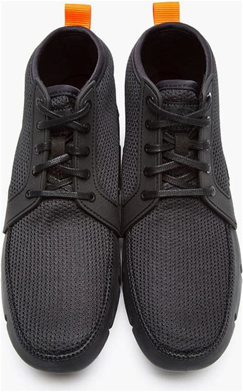 high top loafers swims black mesh high top sport loafers in black for