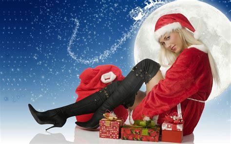 happy  year santa claus girl hd wallpaper  wallpaperscom