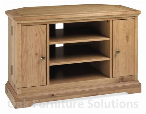 provence oak corner tv unit with dvd storage cupboards