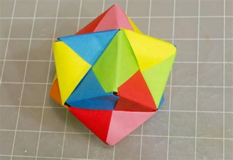 Make Origami Cube - modular origami how to make a cube octahedron