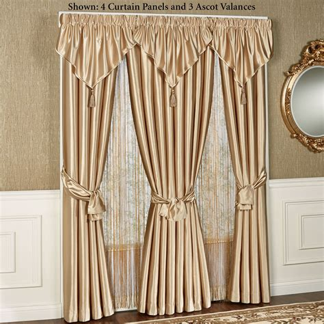 Ascot Valance Shimmer Satin Ascot Valance Window Treatment