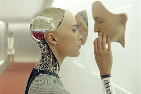 film robot woman movie review ex machina a chilling tale of two guys and