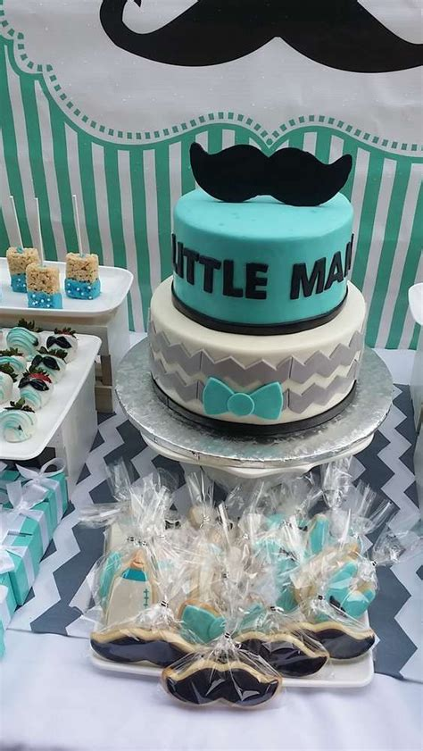 themes in black boy mustaches little man baby shower party ideas baby