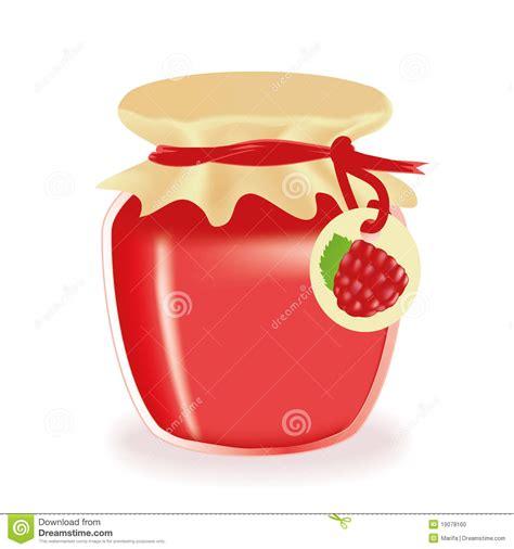 background jam jar of raspberry jam isolated stock photo image 19078160