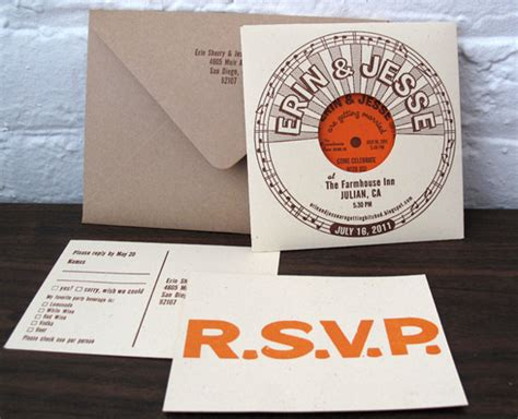 vintage record wedding invitations vintage vinyl wedding details