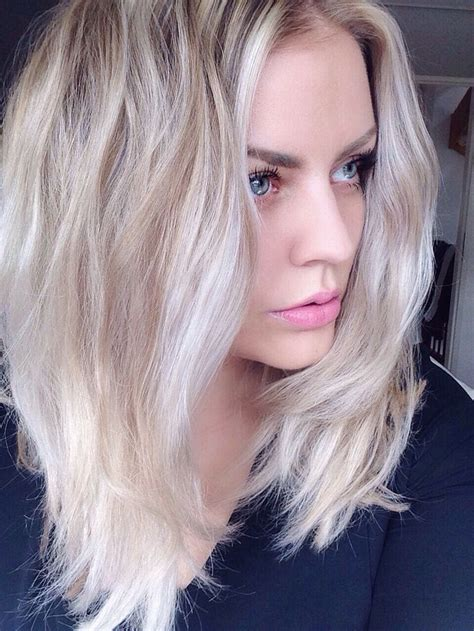 platinum blonde hair over 45 long bob lob white hair platinum blonde balayage h