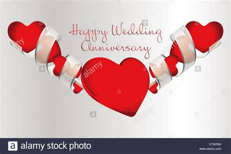Wedding Anniversary Background by Shiny Hearts With Silver Ribbon On Silver Background