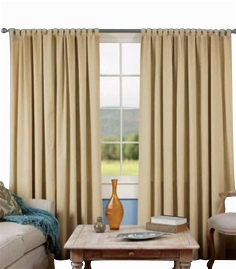 cream tab top blackout curtains blackout window door two piece panel tab top cream