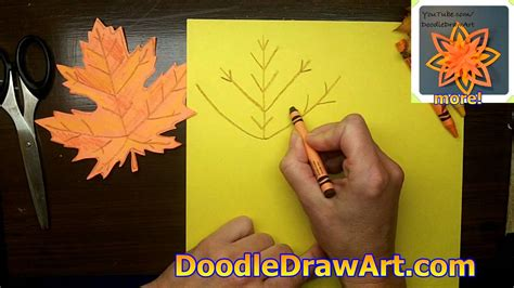 make a decoration how to draw and make a maple leaf for fall make a paper