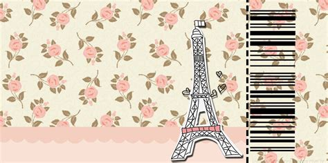 paris with roses free printable cards or invitations