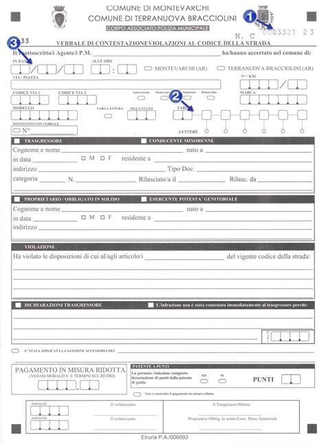 comune polizia municipale ufficio verbali pagamento verbali