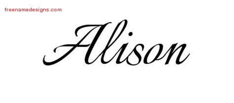 calligraphic name tattoo designs alison download free