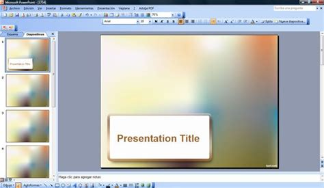 free powerpoint templates 2007 blur effect powerpoint template