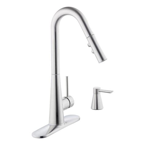 glacier bay single handle kitchen faucet glacier bay 950 series single handle pull down sprayer
