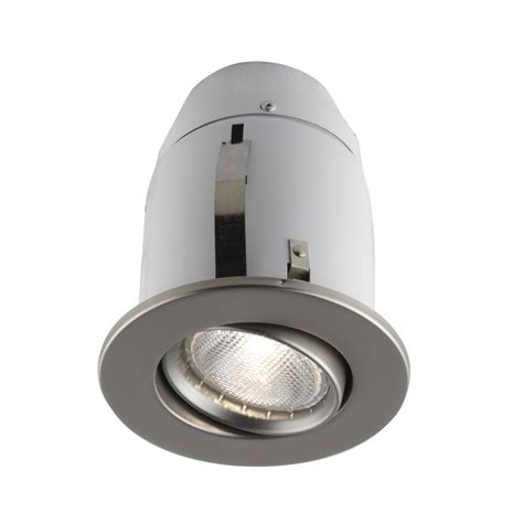 Halogen Lighting Fixtures Bazz 900 Series 4 In Satin Recessed Halogen Light Fixture Kit 900 114s The Home Depot