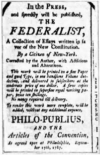 Federalism Essay by The Federalist Papers