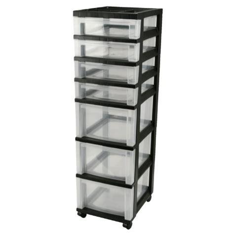 7 Drawer Storage Cart by Plastic Storage Drawers Iris 7 Drawer Rolling