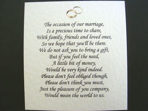 wedding invitations money no gifts inspirational wedding invitation no gifts just money
