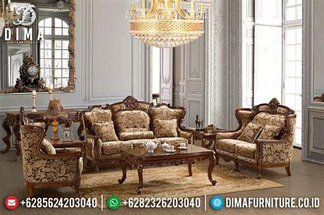 Kursi Tamu Mewah Jati Jepara set kursi sofa tamu jati jepara mewah klasik terbaru df