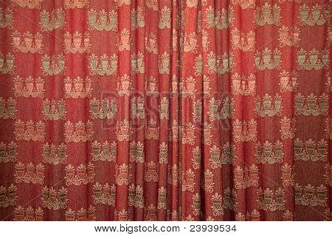 patterned red curtains red patterned curtains stock photo stock images bigstock