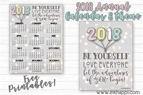 Calendar 2018 Annual 2018 Annual Calendar Let The Adventures Of Quot You Quot Begin