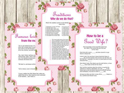 free printable retro bridal shower games vintage pink rose bridal shower games magical printable