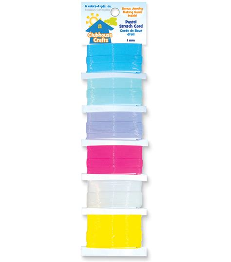 Papercraft Clubhouse - sulyn clubhouse crafts pastel stretch cord 6 colors 4 yds