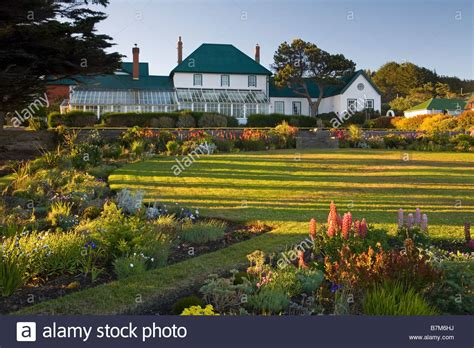 mail house gov government house in stanley falkland islands garden stock photo royalty free image