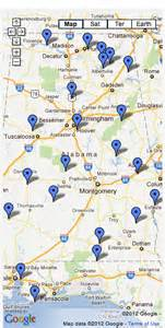 Alabama State Parks Map by Alabama State Parks Host Notable Wi Fi Network Woodall S