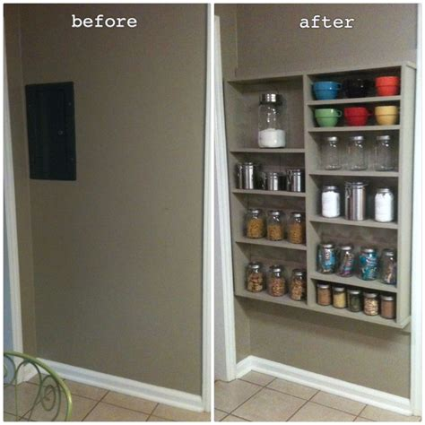 shallow open pantry shelves  kitchen ideas  kitchen