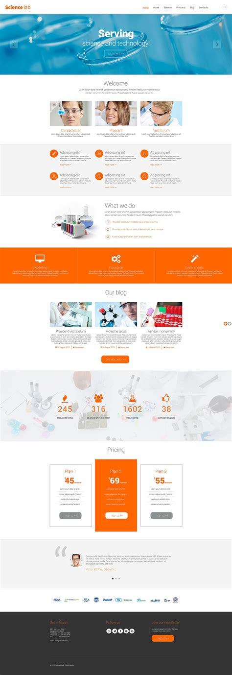 Science Lab Drupal Template Free Laboratory Website Template