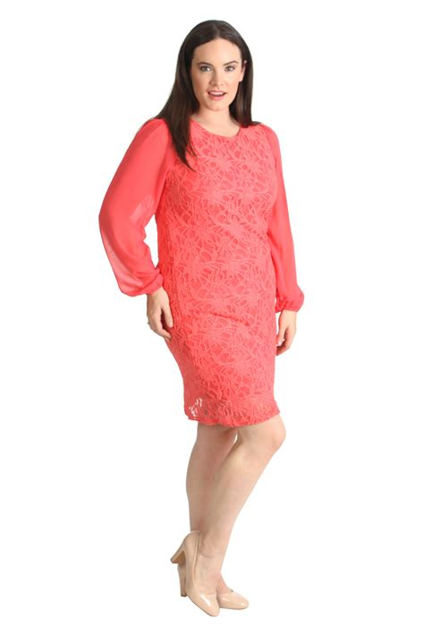 Sleeve Floral Tunic new plus size dress womens floral lace chiffon