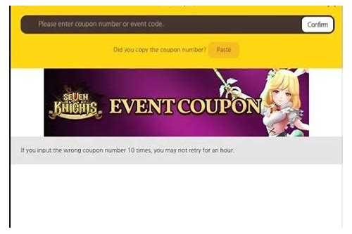 seven knight coupon event