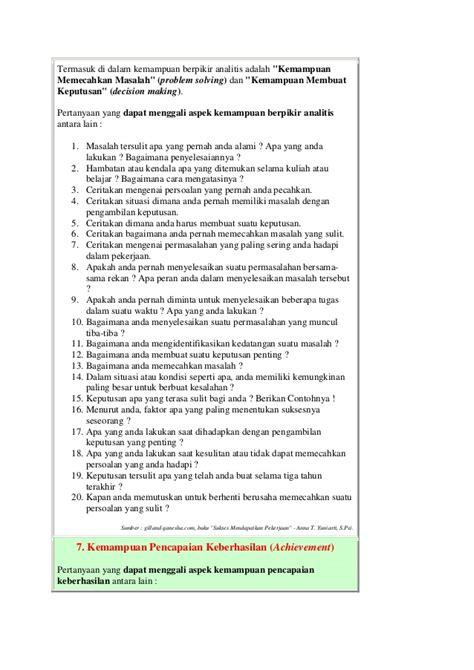 cara membuat makalah wawancara pertanyaan umum dalam wawancara