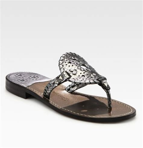 rogers sandals silver rogers metallic leather sandals in silver